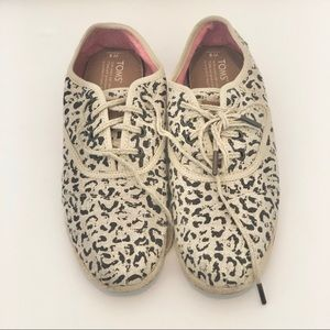 Toms Leopard Shoes With Laces